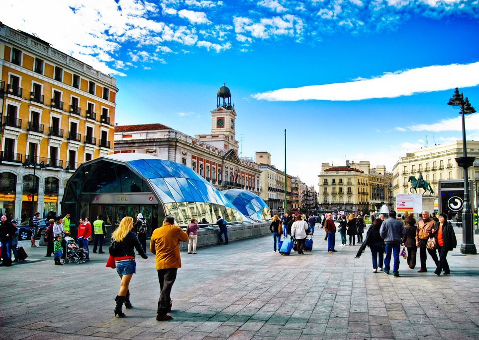 Площади и Бродвей Мадрида